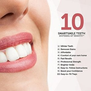 Smartsmile Professional Teeth Whitening Kit- With 35% Carbamide Peroxide Gel and Thermoform Trays