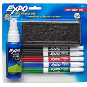 EXPO Low-Odor Dry Erase Set, Fine Point