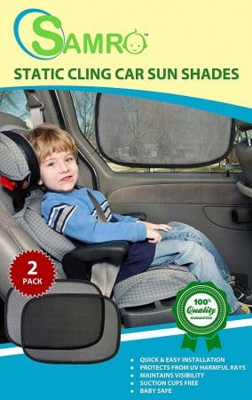 "Samro, Car Sun Shade (2 Pack) Size 19""x12"""