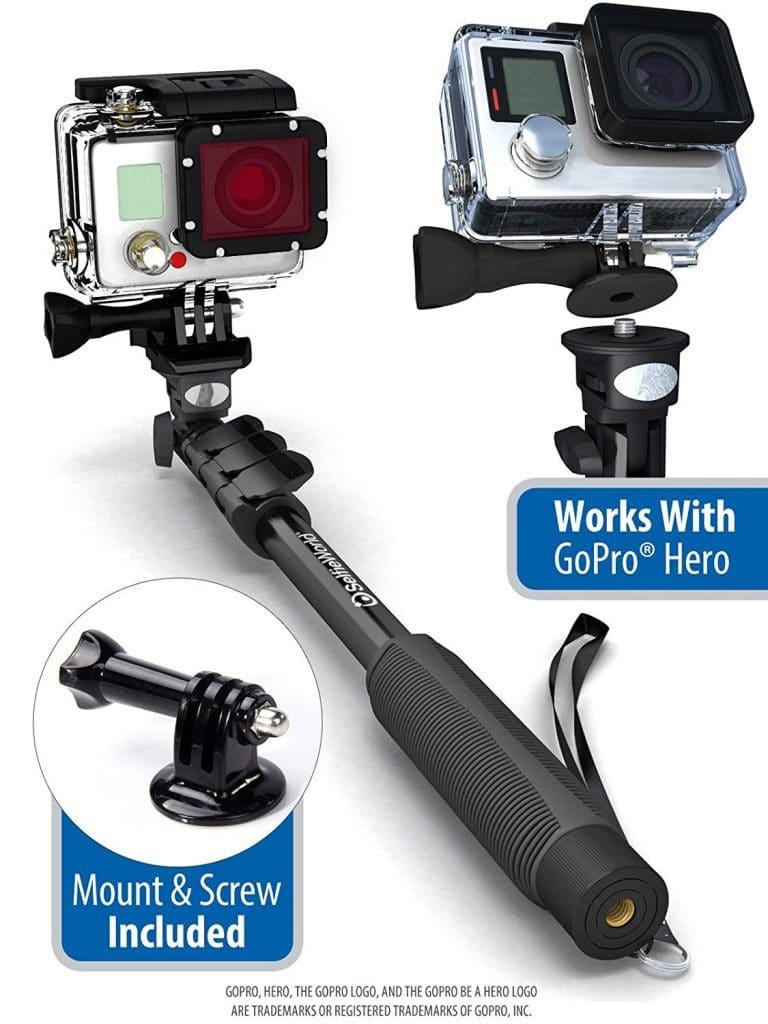 waterproof selfie stick for gopros