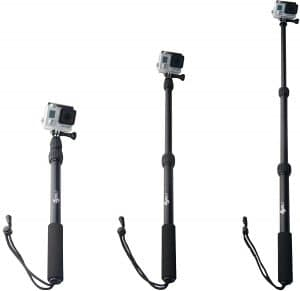 ActionSports Aluminum Waterproof GoPro Selfie Sticks, Waterproof selfie stick for Gopros