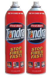 First Alert AF400-2 Tundra Fire Extinguishing Aerosol Spray
