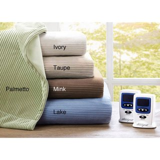 Beautyrest's Ribbed Micro - fleece Electric Blanket