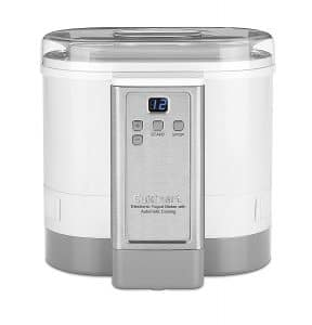Cuisinart CYM-100 Electronic Yogurt Maker with Automatic Cooling, Yogurt Makers