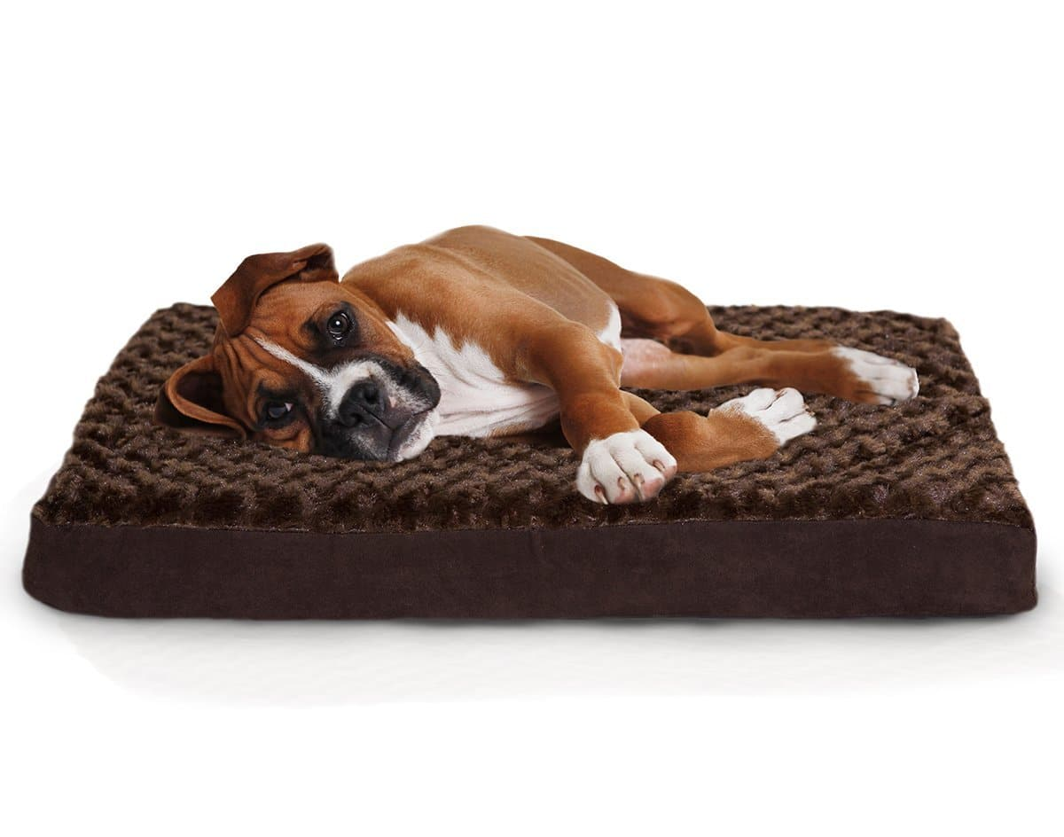 dog beds furhaven deluxe orthopedic mattress bed