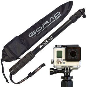 GoRad Gear Waterproof GoPro Selfie Sticks, waterproof selfie stick for Gopros