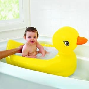 Munchkin White Hot Inflatable Duck Tub - Baby Bathing Tubs