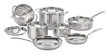 Best Cookware Sets, Cuisinart MCP-12N Multiclad Pro Stainless Steel 12-Piece