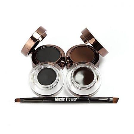 Makeup Cosmetic, Ucanbe Cosmetics 4 in 1 Brown Black Gel Eyeliner and Eyebrow Powder