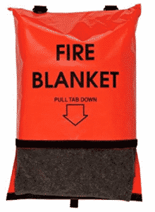 Think Safe 911-83700 Bright Orange Fire Blanket