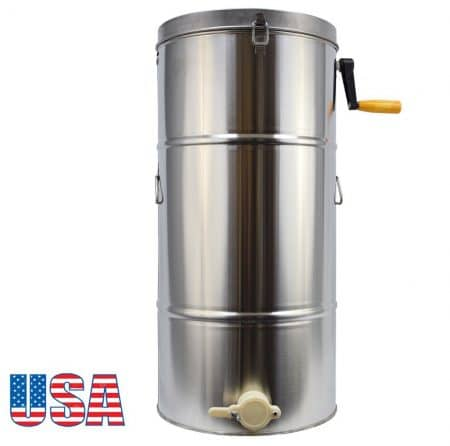 Zinnor, 2 Frame Stainless Steel Bee Honey Extractor