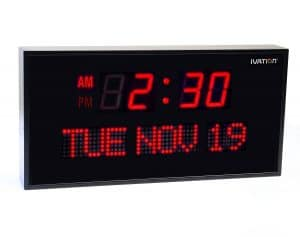 Ivation, Big Oversized Digital Blue LED Calendar Clock