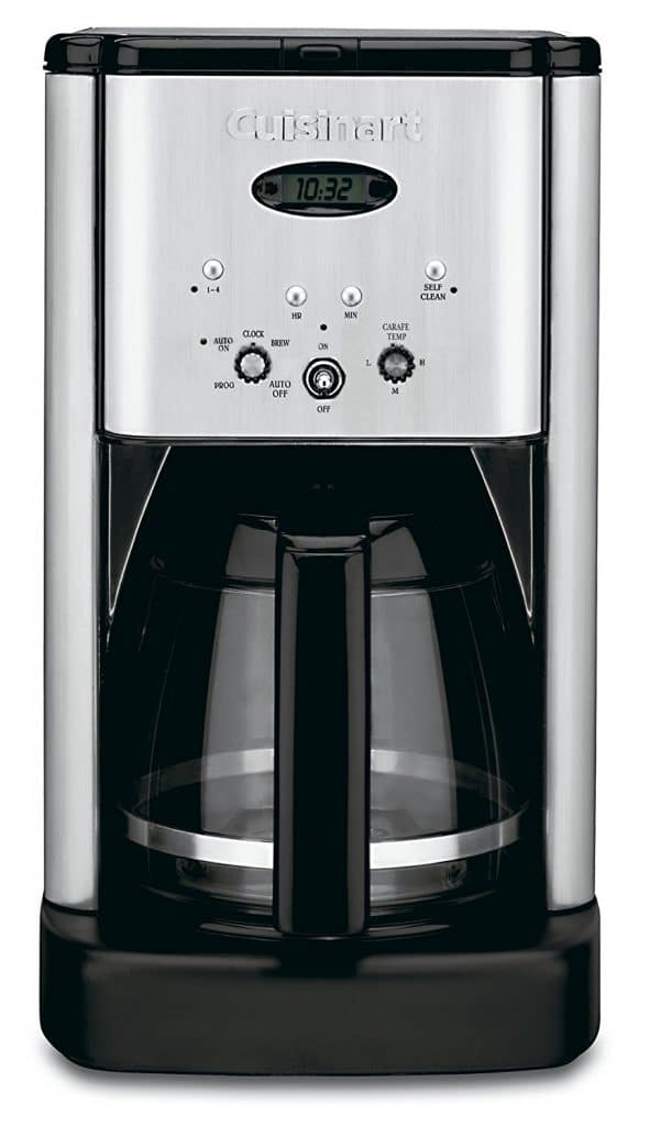 Cuisinart Brew Central DCC-1200 12 Cup Programmable Coffeemaker, Black/Silver