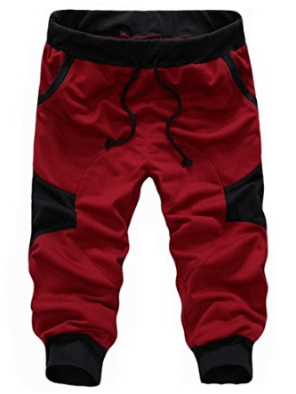 SoEnvy Men's Casual Harem Training Jogger Sport Short Baggy Pants