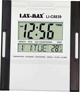 Jaras, Lax-Max Large LED Digital Wall Clock with Temperature & Calendar