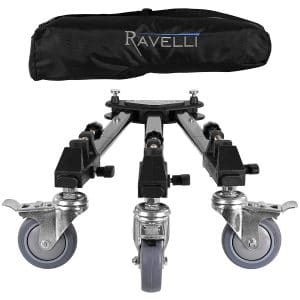 Ravelli ATD Professional Tripod Dolly - Tripod Dolly for Cameras