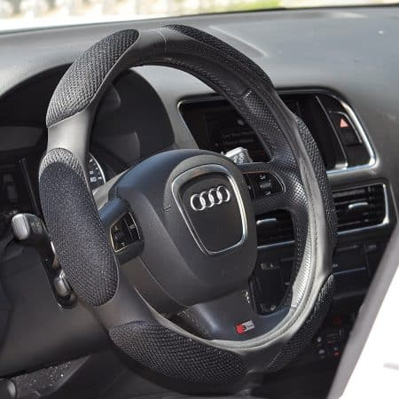 Black Steering Wheel Cover Odorless