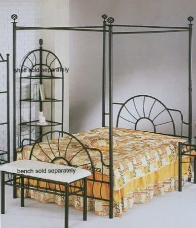 ACME 02084F Sunburst Full Canopy Bed HB/FB