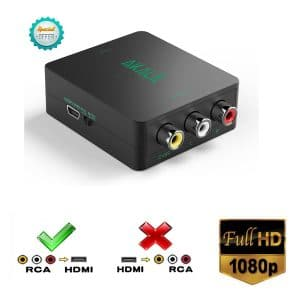Akale AV RCA Composite CVBS to HDMI Video Audio Converter - RCA to HDMI Converters