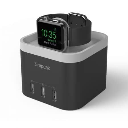 Simpeak 4 Port USB Charger Station for Apple Watch