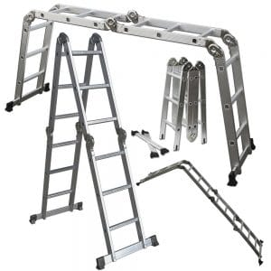 OxGord Aluminum Folding Scaffold Multi-Purpose Ladder, Extension Ladders