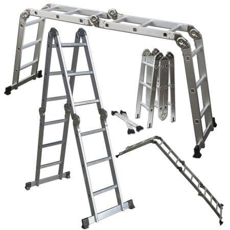 OxGord Aluminum Folding Scaffold Multi-Purpose Ladder