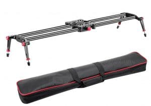"Neewer® 39""/1m Carbon Fiber Camera Track Dolly, Tripod Dolly for Cameras"