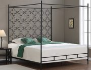 Quatrafoil, Metal Canopy Bed Frame King Sized Adult Kids Princess Bedroom Furniture