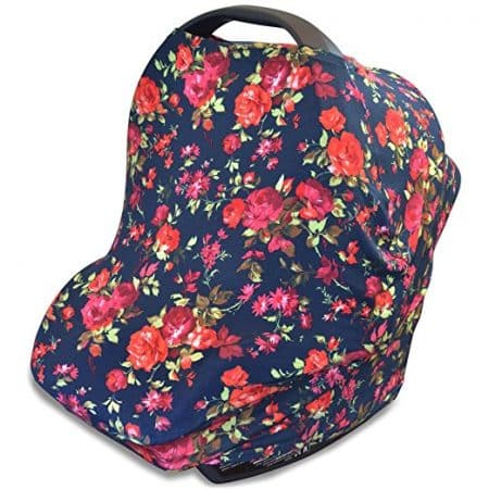 Stretchy 4-in-1 Carseat Canopy | Nursing Cover - Car Seat Canopy