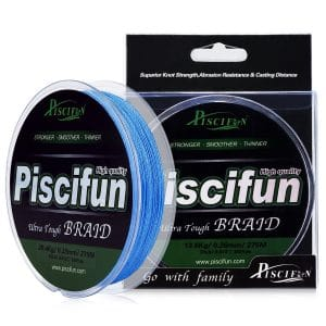 Piscifun Braided Fishing Line, Braided Fishing Line 150yards 300yards 547yards