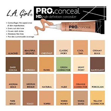 L.A. Girl Pro Conceal HD Concealer (Pack of 3)