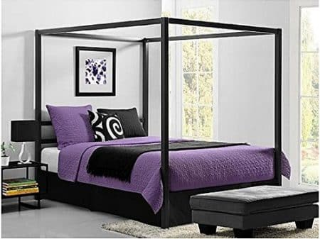 Bakersfield European-Style Metal Canopy Bed (Queen)