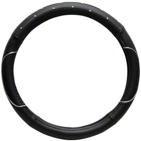 OxGord® Faux Leatherette Studded Rhinestone Crystal Bling Steering Wheel Cover