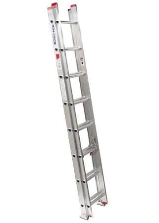 Werner D1116-2 200-Pound Duty Rating Aluminum Flat D-Rung Extension Ladder