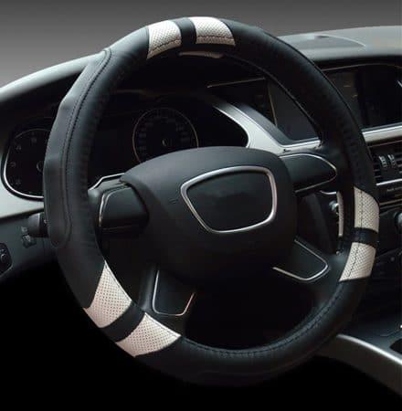 Dee-Type Leather Steering Wheel Cover