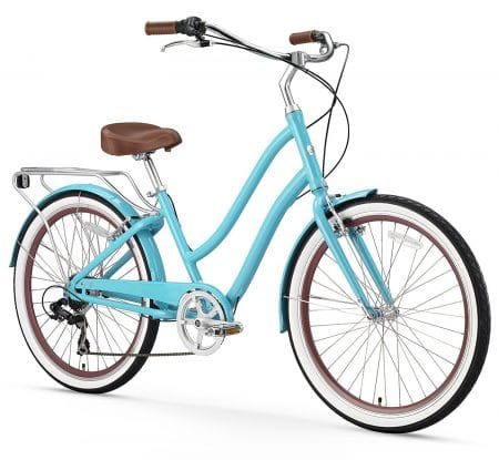 sixthreezero EVRYjourney Women's 26-Inch 7-Speed Step-Through Touring Hybrid Bicycle