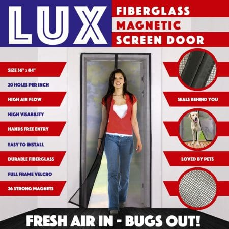 Magnetic Screen Door New 2018 Design Full Frame