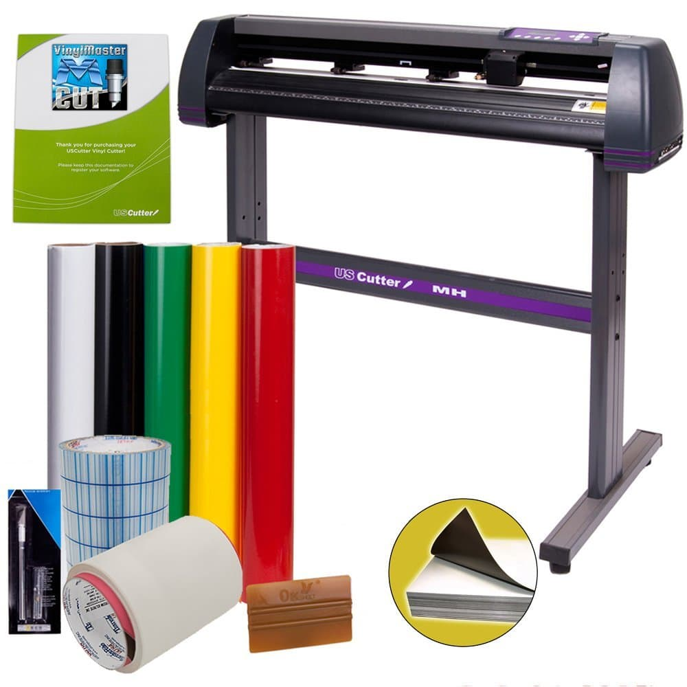 Vinyl Cutter USCutter MH 34in BUNDLE - Sign Making Kit w/ Design & Cut Software