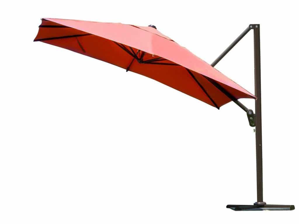 Abba Patio 10-Feet Offset Cantilever Umbrella Outdoor Patio Umbrella Square Parasol Infinite Tilt Position with Cross Base and Umbrella Cover