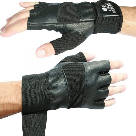 """Weight Lifting Gloves With 12"""" Wrist Wraps Support for Gym"""