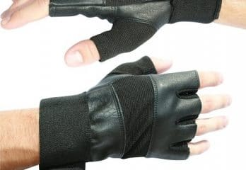 "Weight Lifting Gloves With 12"" Wrist Wraps Support for Gym"