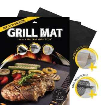 La-Chef Grill Mat -NonStick BBQ Mats for Gas,Charcoal,Electric Grills
