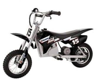 Razor MX350 Dirt Rocket 24V Electric Toy Motocross Motorcycle Dirt Bike, Black