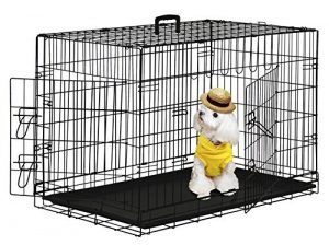 "PayLessHere 48"" XXXL Dog Crate W/Divider Double-doors"