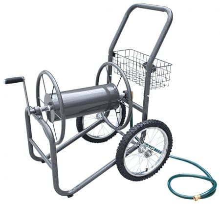 Liberty Garden Products 880-2 Industrial 2 Wheel Pneumatic Tires Garden Hose Reel