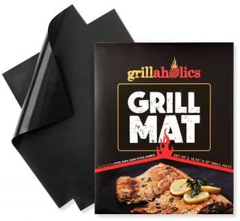 Grillaholics Grill Mat - Set of 2 Non Stick BBQ Grill Mats