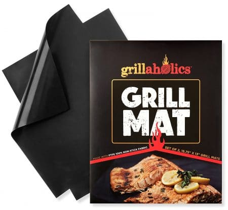 Grillaholics Grill Mat - Set of 2 Non Stick BBQ Grill Mats