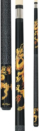 Players D-DRG Midnight Black with Golden Dragons Cue