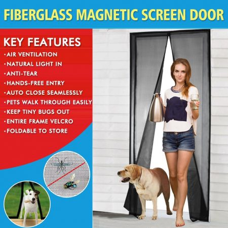 CHERAINTI Magnetic Screen Doors 2018 Mesh Screen Door With Magnets