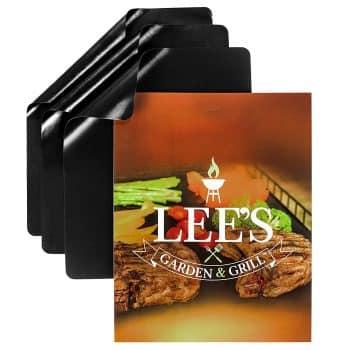 Lee's Garden & Grill,BBQ Grill Mat Set of 3 Mats